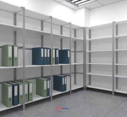 Sử dụng kệ sắt v lỗ trong lưu trữ hồ sơ